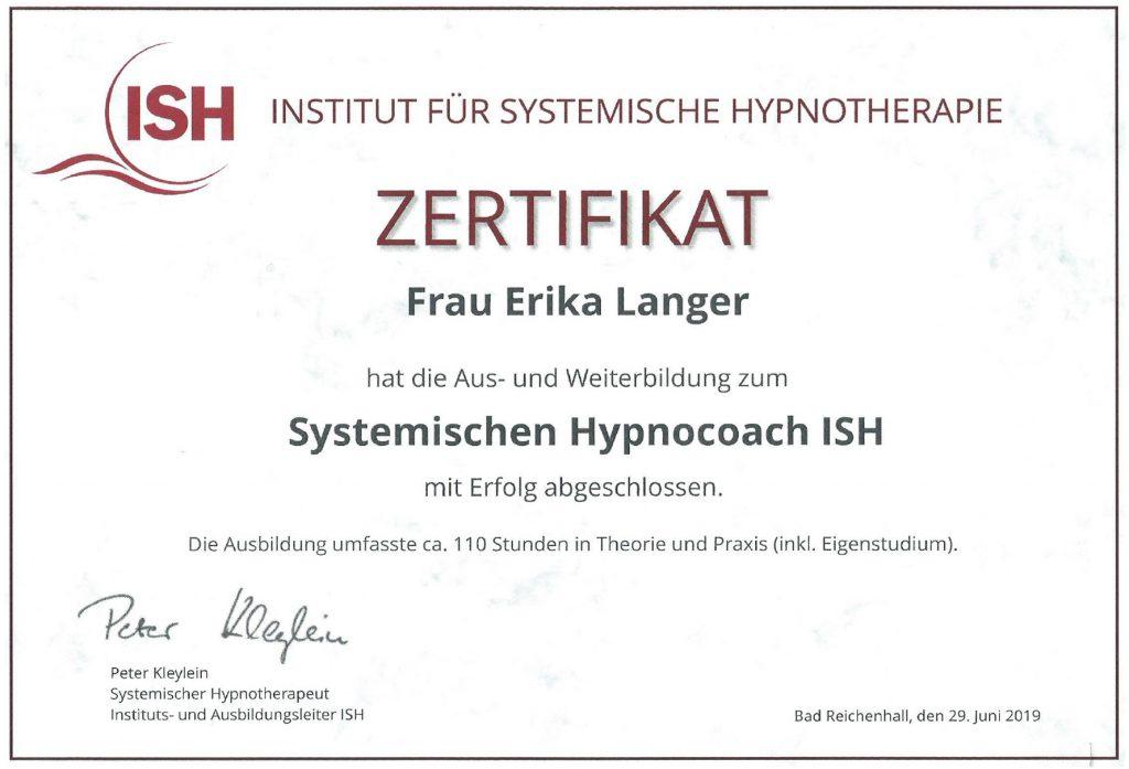 Hypnocoach - Erika Langer - Institut für Systemische Hypnotherapie